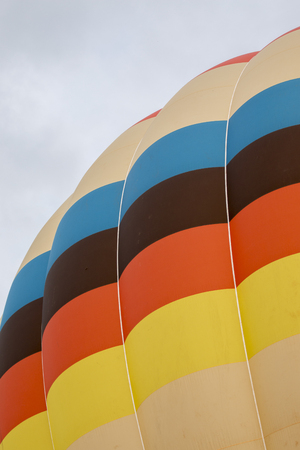 Close ups of the ascension of colorful hot air balloons festival. Stock Photo