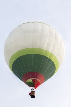 the ascension: View of the ascension of colorful hot air balloons festival. Stock Photo