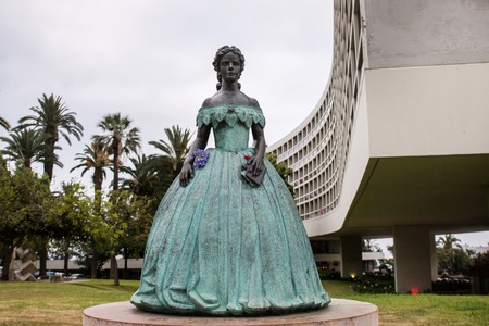 FUNCHAL, PORTUGAL- 17th JUNE, 2017: Statue of Sissi,Elizabeth the Empress of Austria in Funchal.