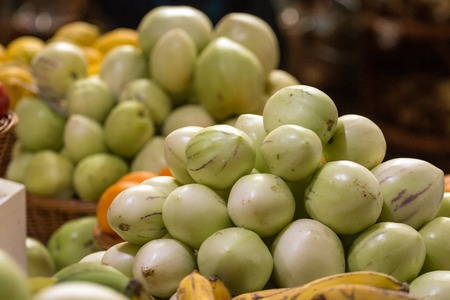 Exotic umbu fruit at sale on the market.