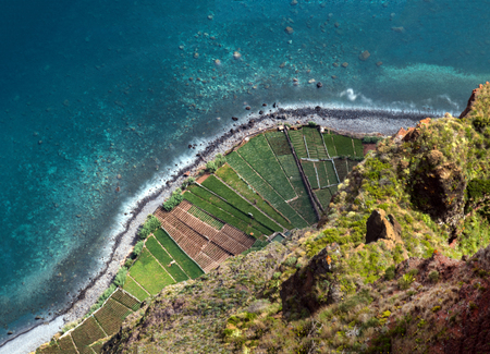 View of the famous Cabo Girao viewpoint in Madeira island, Portugal.