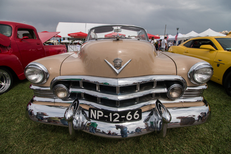 FARO, PORTUGAL, 26th August 2017: 6 American Cars Show Algarve Event where several vintage cars are in display and a mix of Americana related activities happen, including pinup shows, rockabilly concerts and sexy carwash. Editorial