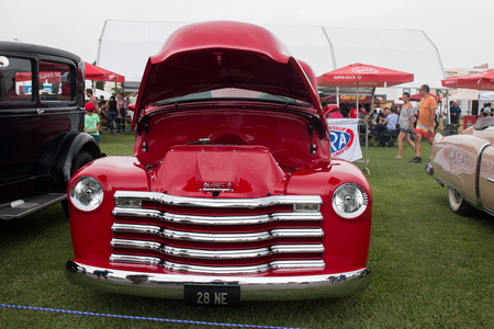 FARO, PORTUGAL, 26th August 2017: 6º American Cars Show Algarve Event where several vintage cars are in display and a mix of Americana related activities happen, including pinup shows, rockabilly concerts and sexy carwash. Editorial