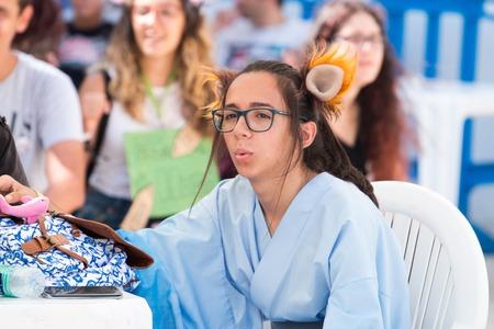 FARO, PORTUGAL - August 19, 2017: Geek nerd fan in the Manga & Comic Event.