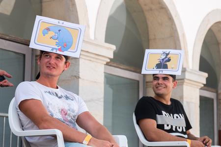 FARO, PORTUGAL - August 19, 2017: Geek Nerd games in the Manga & Comic Event.