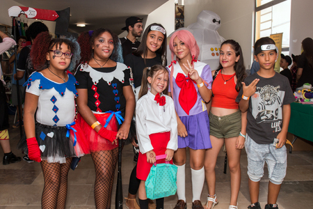 FARO, PORTUGAL - August 19, 2017: Cosplay fans in costume in the Manga & Comic Event.