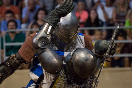 SILVES, PORTUGAL - August 13th, 2017 : Details, colors, people and general mood of the weekly Medieval fair event that happens in the small portuguese village of Silves. Editorial