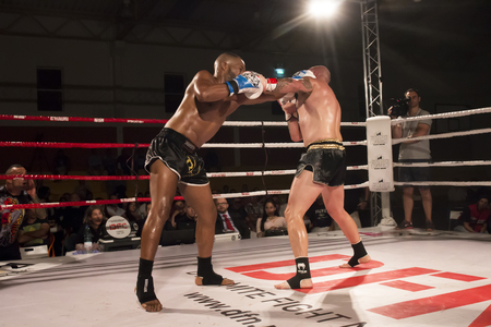 OURIQUE, PORTUGAL - 9th september, 2017 - DFC Championship of kickboxing sports event held on ourique city, Portugal. Stock Photo - 89736608