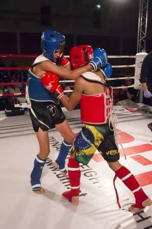 OURIQUE, PORTUGAL - 9th september, 2017 - DFC Championship of kickboxing sports event held on ourique city, Portugal. Stock Photo - 89736224