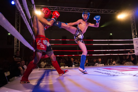 OURIQUE, PORTUGAL - 9th september, 2017 - DFC Championship of kickboxing sports event held on ourique city, Portugal. Stock Photo - 104857725