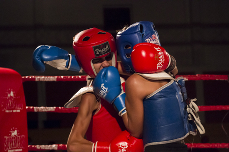 OURIQUE, PORTUGAL - 9th september, 2017 - DFC Championship of kickboxing sports event held on ourique city, Portugal. Stock Photo - 104857729