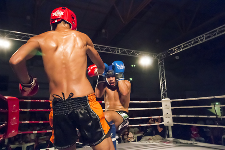 OURIQUE, PORTUGAL - 9th september, 2017 - DFC Championship of kickboxing sports event held on ourique city, Portugal. Stock Photo - 104857732