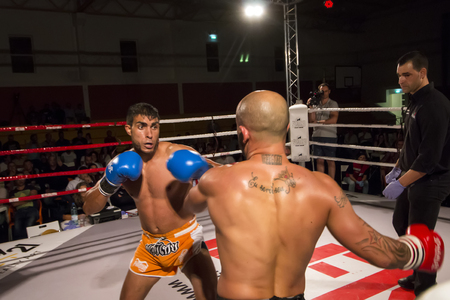 OURIQUE, PORTUGAL - 9th september, 2017 - DFC Championship of kickboxing sports event held on ourique city, Portugal. Stock Photo - 89736643