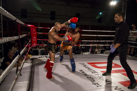 OURIQUE, PORTUGAL - 9th september, 2017 - DFC Championship of kickboxing sports event held on ourique city, Portugal. Stock Photo - 89736734
