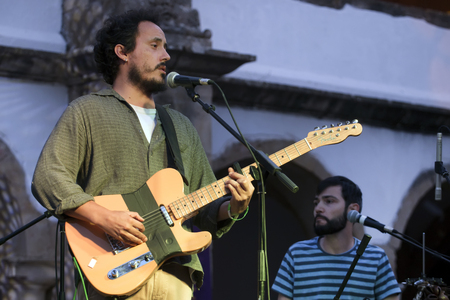 FARO, PORTUGAL: 1st SEPTEMBER, 2017 - Music band, S.Pedro, performs on Festival F, a big festival on the city of Faro, Portugal.