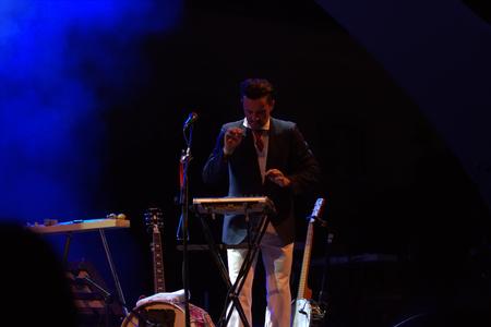 FARO, PORTUGAL: 31st SEPTEMBER, 2017 - Music band, Bruno Nogueira - Deixem o Pimba em Paz, performs on Festival F, a big festival on the city of Faro, Portugal. Editorial