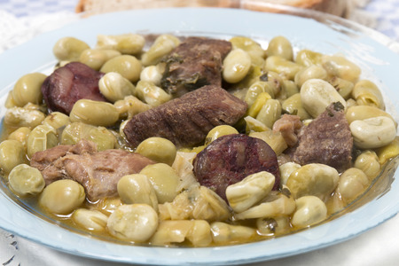 Typical Portuguese stew of Fava beans with chorizo.