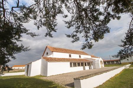 Ancient roman christian church on Odrinhas village, Portugal.