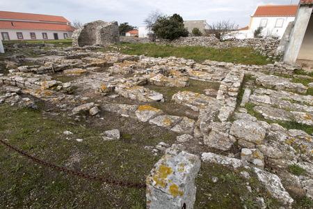 Archeological roman ruins of Odrinhas village located in Sintra region, Portugal.