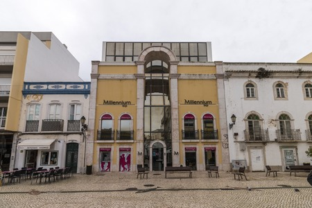 FARO, PORTUGAL: 4th of March, 2018 - View of the Millennium BCP bank building located in Faro city.