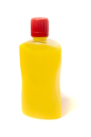 Yellow Liquid fire starter isolated on a white background.