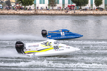 PORTIMAO, PORTUGAL : 20th MAY, 2018 - Portuguese Grand Prix - F1 Powerboat racing event of the 2018 edition held on Portimao Arade river, Portugal.