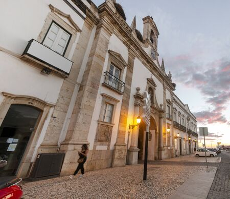 Main entrance to historical downtown of Faro city, Portugal.