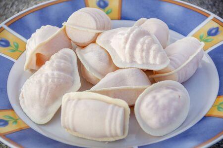 Traditional portuguese sweet called Ovos moles de Aveiro.