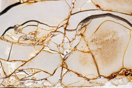 dirty plastic texture with wrinkles, cracks and sunburnt glued to glass. Imagens