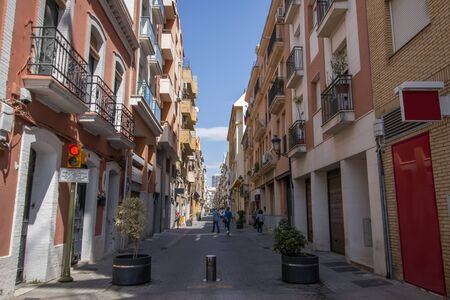 View of the streets of Huelva city, located in Spain, Europe.