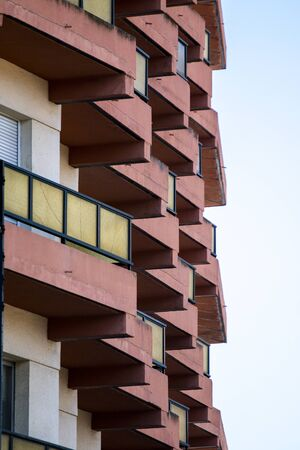 View of Modern Spanish apartment complex on Huelva, Spain.