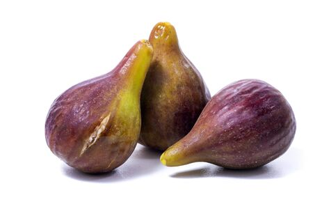 fresh fig fruits isolated on a white background.