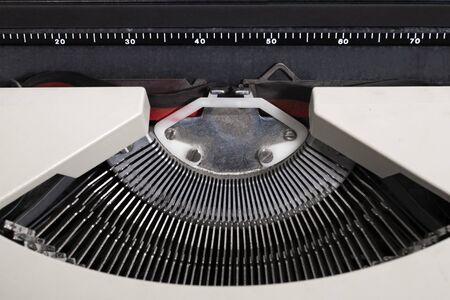 Vintage portable typewriter detail of keys.