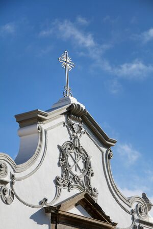 Details on the Church of the small town village, Sao Bras de Alportel in Portugal.
