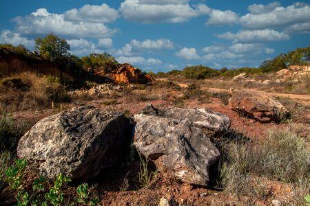 Landscape view of the countryside of Sao Bras de Alportel region, located in Portugal.