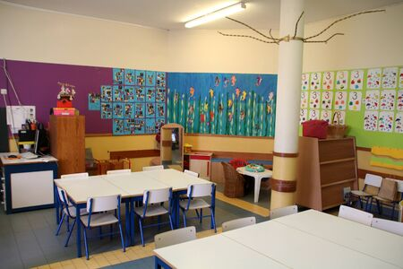 View of the interior of elementary school.