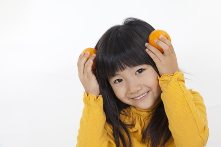 orange and girl photo