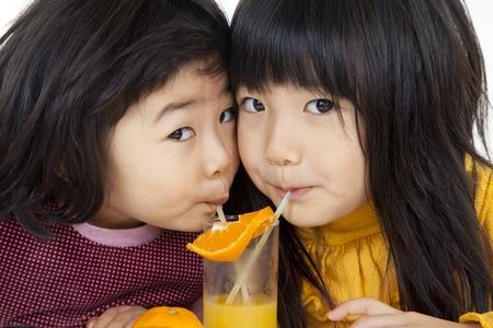 orange and girl photo