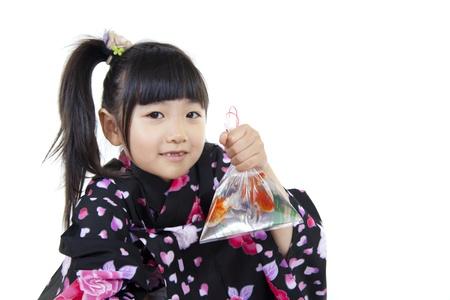 Girl of the summer kimono photo