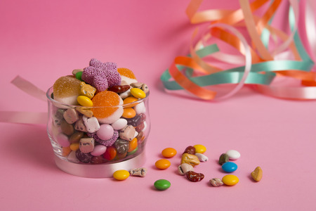 feast: eid sugar on pink background