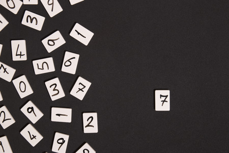 number seven: number seven and number background Stock Photo