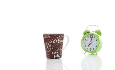 break: coffee break and cups