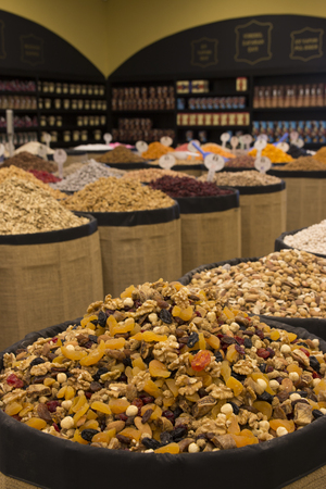 frutos secos: frutos secos  Foto de archivo