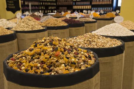 frutos secos: secado tienda de frutas