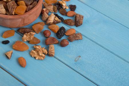 frutas deshidratadas: frutos secos  Foto de archivo