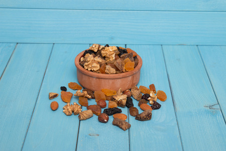 dried fruits: dried fruits bowl Stock Photo