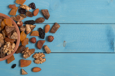 getrocknete Früchte Schüssel