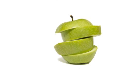 sliced apple: isolated sliced apple