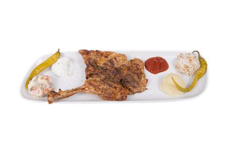 chicken chop: isolated chicken chop