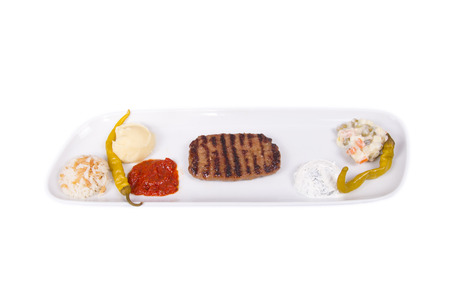 grill: isolated grill plate Stock Photo